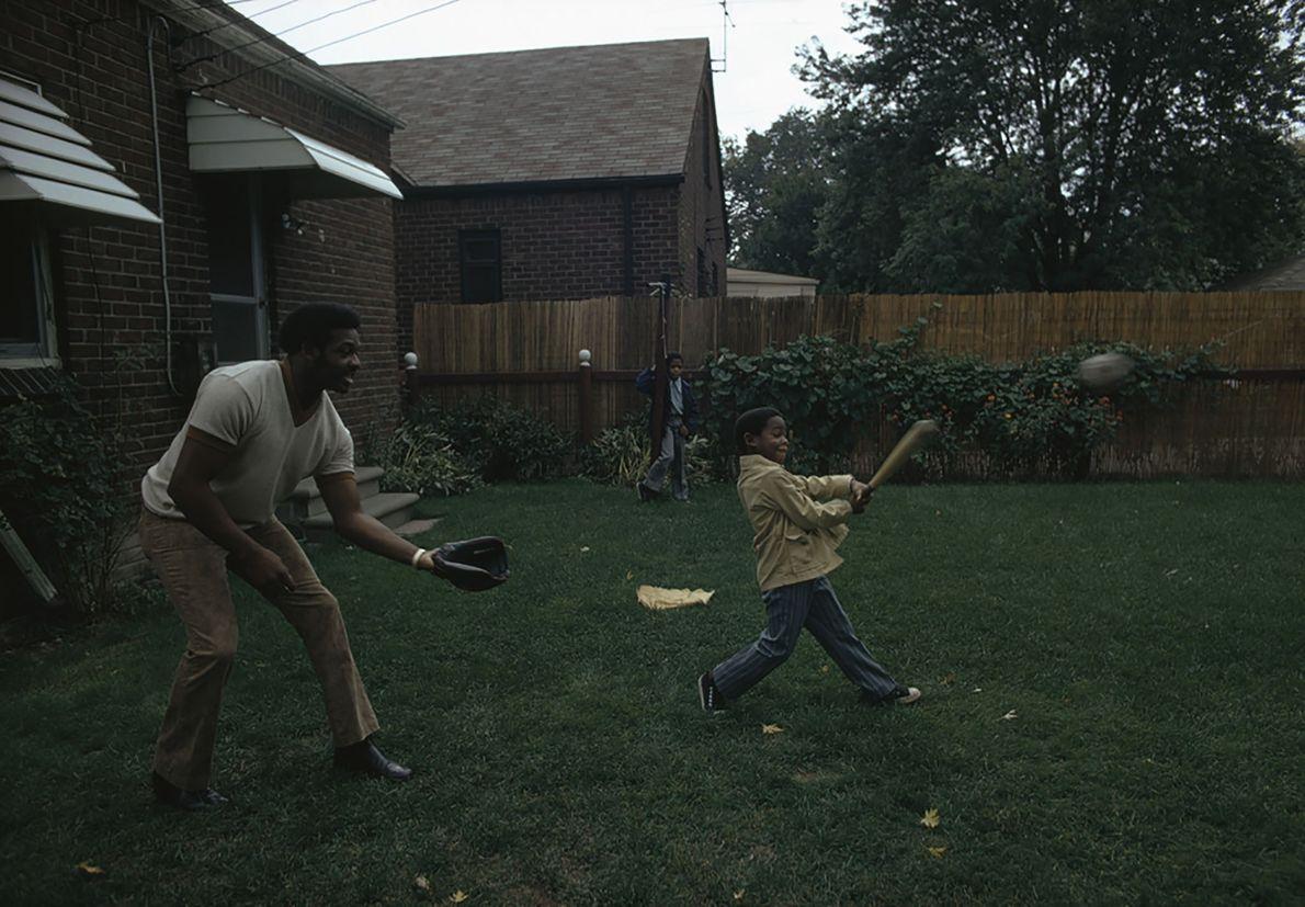 Béisbol en el jardín