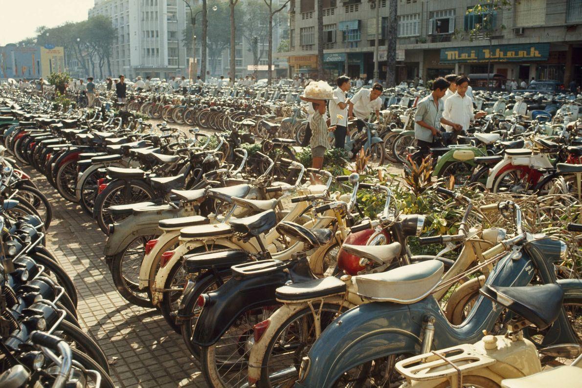 Fila de bicicletas