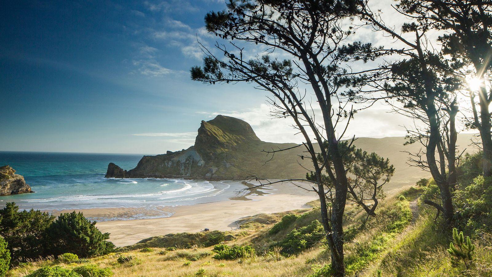 Las vistas en Castlepoint, en la Isla Norte de Nueva Zelanda, son maravillosas.