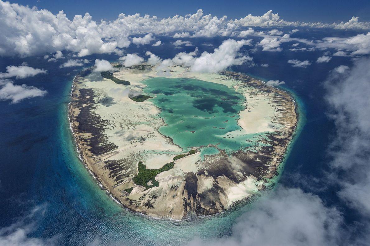 La isla de St. Joseph en el Seychelles, que en el pasado fue una plantación de ...