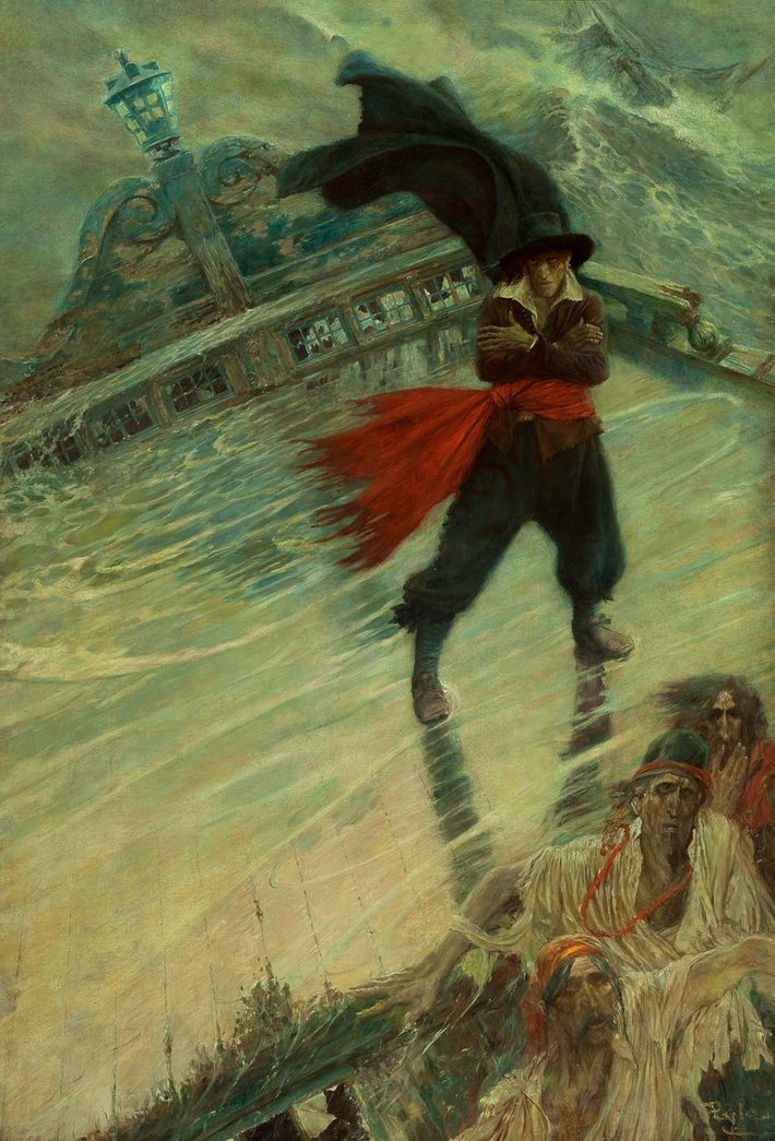 The Flying Dutchman, published in Collier\'s Weekly, December 8, 1900 (oil on canvas)