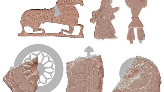 Los diferentes motivos de estatuillas de Ribe, Dinamarca, sugieren que en el sitio se fabricaron una ...