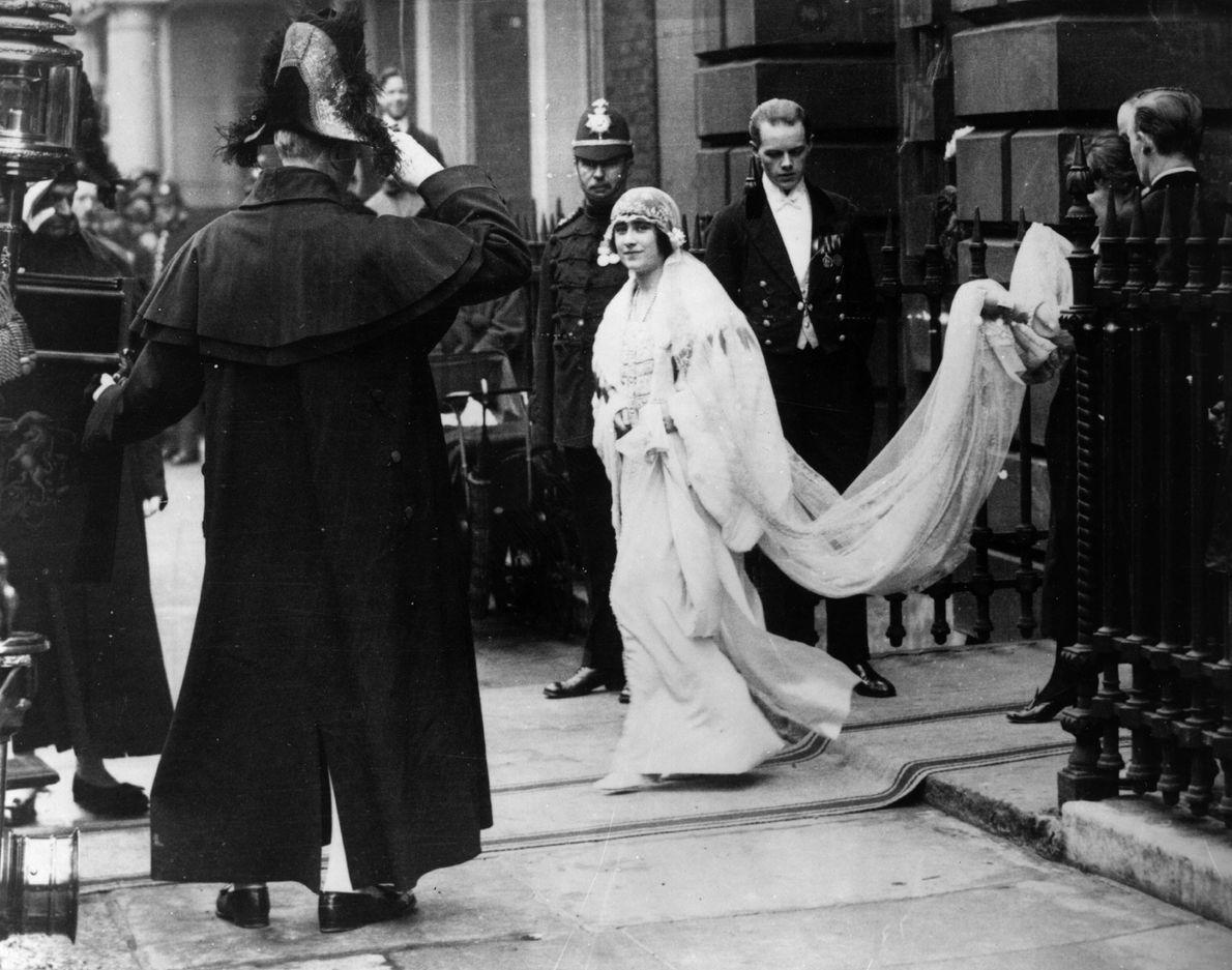 Muchas novias reales han usado un vestido de boda blanco, lo que refleja la influencia nupcial ...