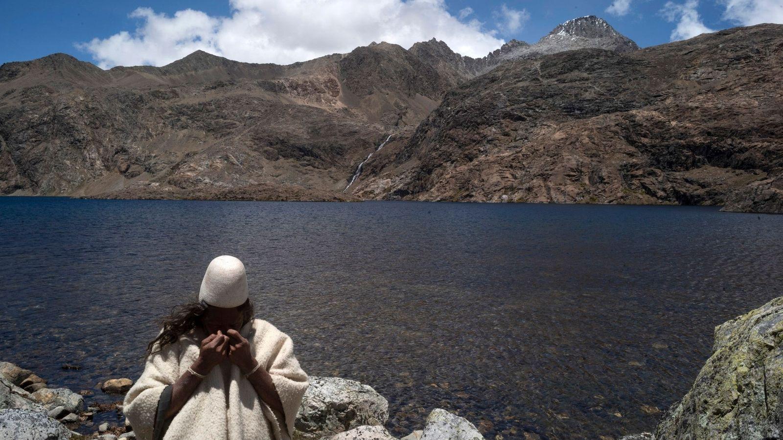 Los Arhuacos, un grupo indígena en el macizo de la Sierra Nevada de Santa Marta en ...