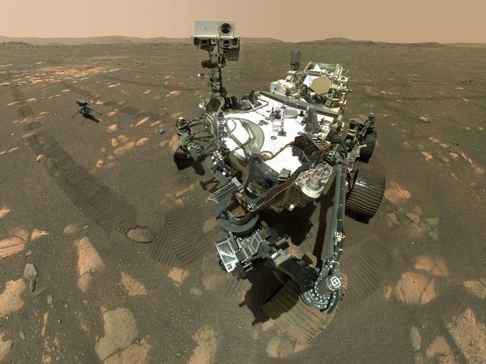 El Perseverance toma la primera muestra de roca en Marte