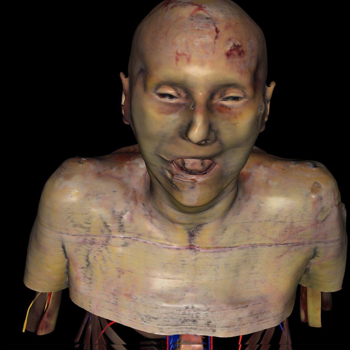 """Susan Potter es el primer """"ser humano visible"""" en 3D en 25 años que fue creado ..."""