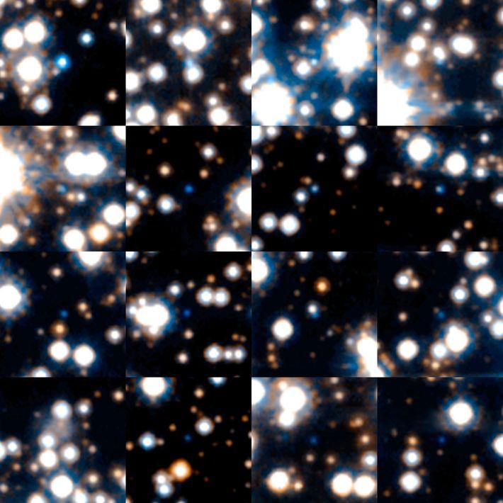 Estas enanas blancas fueron fotografiadas durante un estudio astronómico realizado por el Telescopio Espacial Hubble de ...