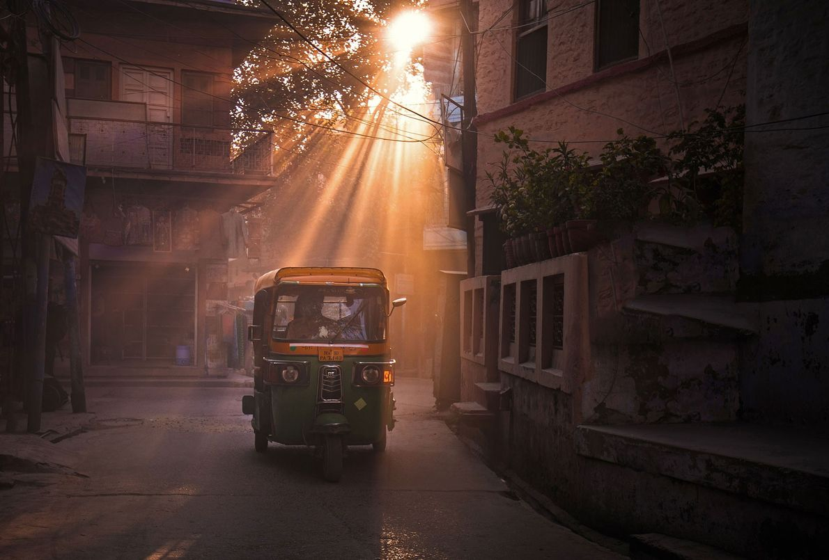 """Jaipur, India """"En la hora dorada, Jaipur es realmente una Ciudad rosa"""", cuenta Yip. """"Los rayos del ..."""